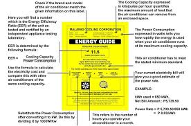 Image Of Room Airconditioner Aircon Energy Label Guide