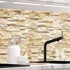 stickerprofis küchenrückwand selbstklebend pro steinwand ashlar 60 x 60cm diy do it yourself pvc spritzschutz