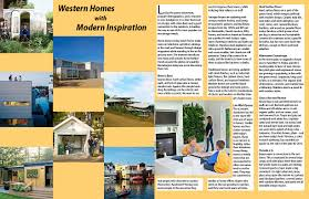 100 Modern Homes Magazine Double Page Spread