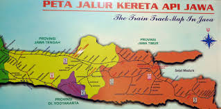 Indonesia Central And East Java Train Rail Map