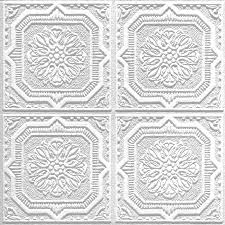 Armstrong Ceiling Tiles 12x12 by Shop Armstrong 40 Pack Tin Look Wellington Homestyle Ceiling Tile