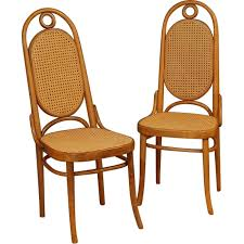 chaises thonet pair of thonet n 17 in wood michael thonet 1930s design market