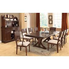 Furniture Of America New England Double Pedestal Dining ... Iris Dark Brown Round Glass Top Pedestal 5 Piece Ding Table Set Nice 48 Inch 9 Relaxbeautyspacom Wood Kitchen Small And Chairs Shop Wilmington Ii 60 Rectangular Antique Sage Green White Others Bright Modern Vancouver Oval Double In Oak 40x76 Copine Cheap Find Diy Plans Pdf Download Odworking Braxton Culler Room Fairwinds Roundoval