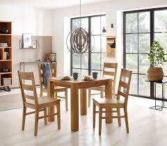 home affaire essgruppe nils 4 set 5 tlg tisch 80 x 80 2 stühle holzsitz aus massivholz kaufen otto