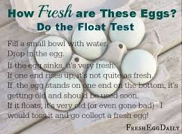 bad eggs float or sink the float test how is that egg easy test for freshness