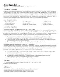 Account Resume Format Accounting Objective Essential Furthermore Popular Sample For Position Senior