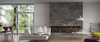 parement mural naturelle relooker le salon avec des plaquettes de parement