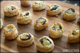 puff pastry canape ideas fig and gorgonzola puff pastry bites