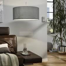 details zu pendelleuchte e27 grau stoff wohnzimmer