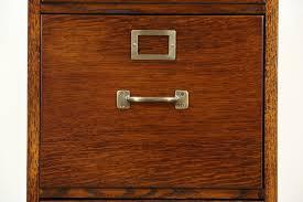 Oak 4 Drawer Vintage Quarter Sawn Oak File Cabinet US Army Air