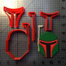 Boba Fett Helmet Pumpkin Stencil by Star Wars Cookie Cutters Fondant Cutters Jb Cookie Cutters