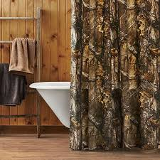 Realtree Camo Bathroom Set by Unique Design Mossy Oak Shower Curtain Cozy Home Cabin Bedding
