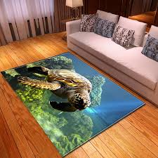 3d meer schildkröte wohnzimmer bereich teppich wohnkultur schlafzimmer teppich flanell sofa sofa floormat esszimmer matten teppich