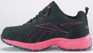 Womens Work And Safety Shoes by Women U0027s Reebok Black With Pink Trim Kenoy Sd Steel Toe Athletic