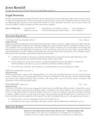 Sample Of Secretary Resume Legal Administrative Assistant