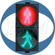 200mm and static green pedestrian led traffic light 200mm