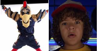 Pelicans mascot stars in Stranger Things video