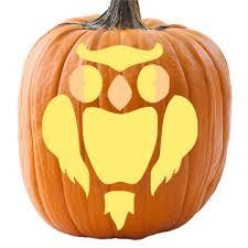 Owl Pumpkin Template by Spooky Owl Pumpkin Stencil