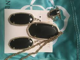 Gold Necklace And Ring Are Older Dani Earrings In Black New