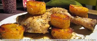 cuisiner des bananes plantain poulet nana à la banane plantain les épices rient