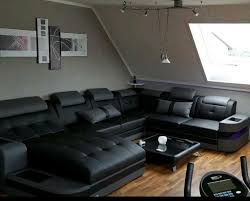 luxus big sofa leder wohnlandschaft wave designer sofa le