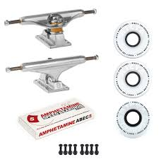 100 Skateboard Truck Sizes Independent S Ricta SKATEBOARD 92a Clouds Wheels PACKAGE Abec 5