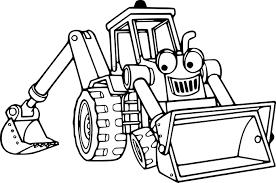 Coloriage Tractopelle Imprimer Coloriage Tracteur Pelle Dessin De L