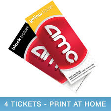 AMC Movie ETickets, 4-pack