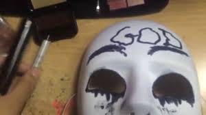 Halloween Purge Mask by How To Make The Purge Anarchy God Mask Youtube