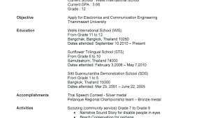 Sample Of Resume For College Students With No Experience Also Examples High School Student