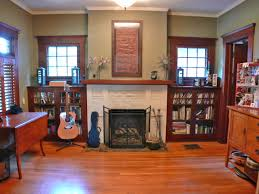 Living Room With Fireplace And Bookshelves by Tara U0026 April Glatzel The Sister Team Info For The