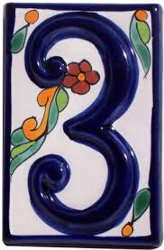 Mexican Tile House Numbers With Frame by Ceramic House Numbers U2013 Massagroup Co