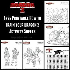 How To Train Your Dragon 2 Activity Sheets