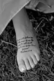 23 Psalms 236 99 Bible Verse Tattoos