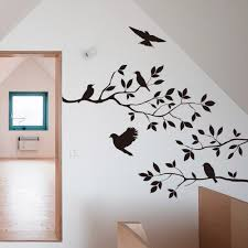 6035cm Black Bird Tree Branch Monster Wall Paper Decals Removable Vintage Kitchen Sticker Home Decoration In Stickers From Garden On