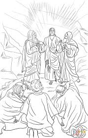 Click The Jesus Transfiguration Coloring Pages