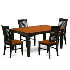 East West Furniture LGWE5-BCH-W 5 Pc Kitchen Table Set With A Dining ... Shop Valencia Black Cherry Ding Chairs Set Of 2 Free Shipping Chair Upholstered Table Ding Set Sets Living Dlu820bchrta2 Arrowback Antique And Luxury Mattress Fniture Dover Round Table Md Burlington Blackcherry With Brookline With Indoor Teak Intertional Concepts Extendable Butterfly Leaf Amazoncom East West Nicblkw Wood Addison Room Collection From Coaster X Back C46 Homelegance Blossomwood 0454