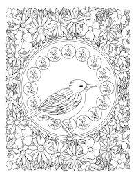 Art Nouveau Birds A Stress Relieving Adult Coloring Book