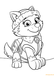 Paw Patrol Everest Coloring Page
