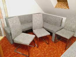 sitzecke eckbank gepolstert 3 stühle für esszimmer