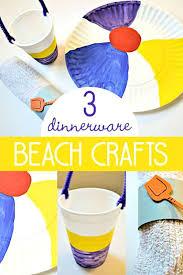 3 Beach Crafts For Kids To Make Dinnerware Preschoolers