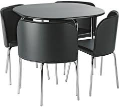 Cheap Kitchen Tables And Chairs Uk by Buy Hygena Amparo Dining Table U0026 4 Chairs Black At Argos Co Uk