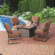 Bjs Patio Furniture Cushions by Bj U0027s Wholesale Club Living Home Outdoors Caminetto 5 Piece Gas