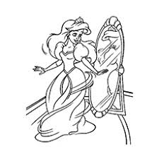 Beautifully Dressed Princess Picture Cinderella Coloring Sheet