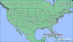 Where is Miami Gardens FL Miami Gardens Florida Map