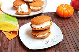 Pumpkin Whoopie Pies With Maple Spice Filling by Belle Vie Pumpkin Whoopie Pies Belle Vie