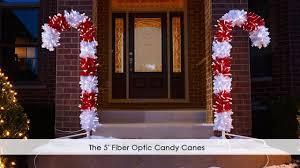 Fiber Optic Pumpkin Decorations by The 5 U0027 Fiber Optic Candy Canes Youtube