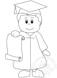 Kindergarten Graduation Coloring Page For Preschool Inside Pages