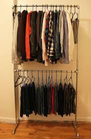 Decorative Metal Garment Rack by Diy Clothes Rack Cheap Diy Pipe Clothing Rack Diy Clothes Rack