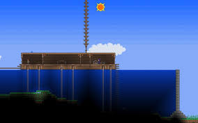 Terraria dam and cabin by shinypuni